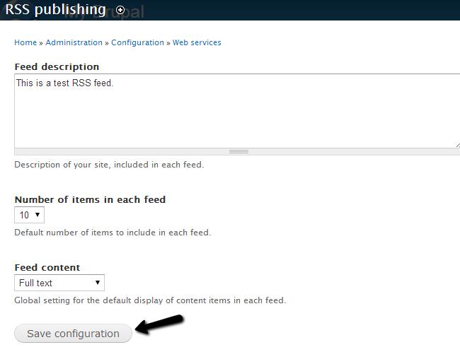 Edit RSS Publishing details in Drupal