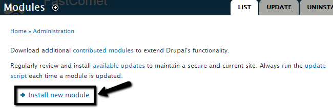 Install a new module in Drupal