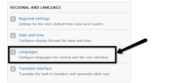 Activate new language in Drupal