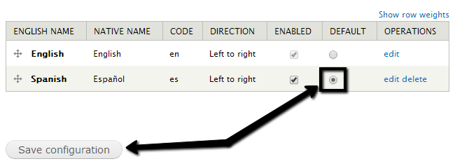 Enable new language by default in Drupal