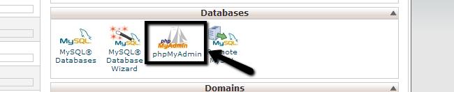 Access phpMyAdmin via cPanel