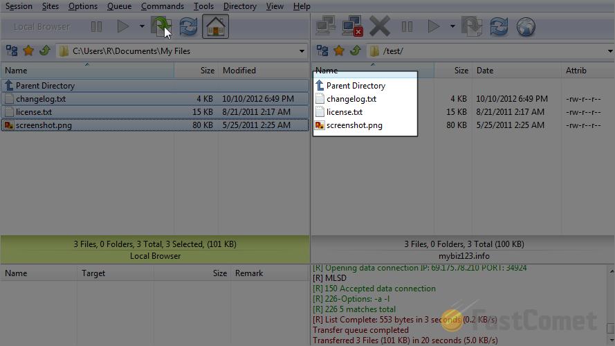 Upload files via FlashFXP - FlashFXP Tutorial - FastComet