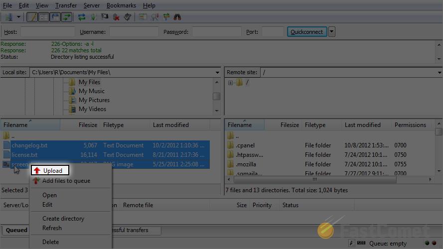 How to Upload Files with FileZilla - FileZilla Tutorial