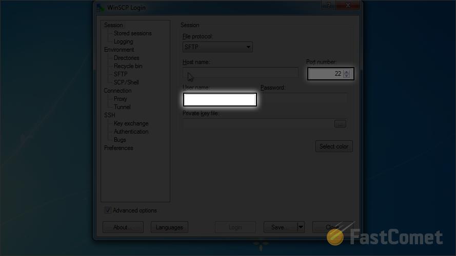 Configure WinSCP FTP Client - WinSCP Tutorial - FastComet