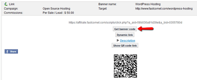 Find an Affiliate Banner and its Code