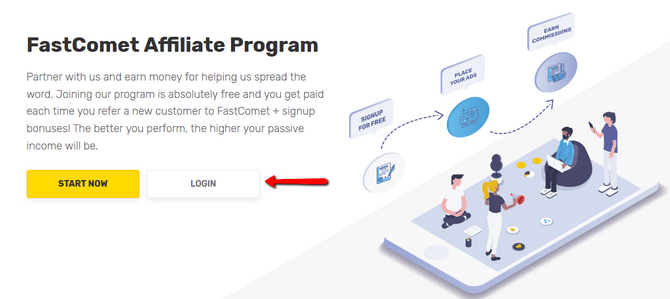 Log in your FastComet Affiliate Account