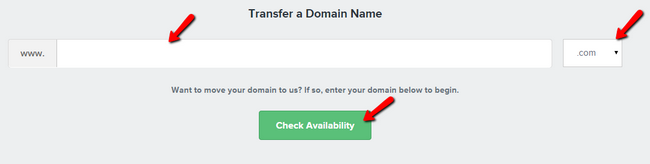 Selecting the domain for transferring
