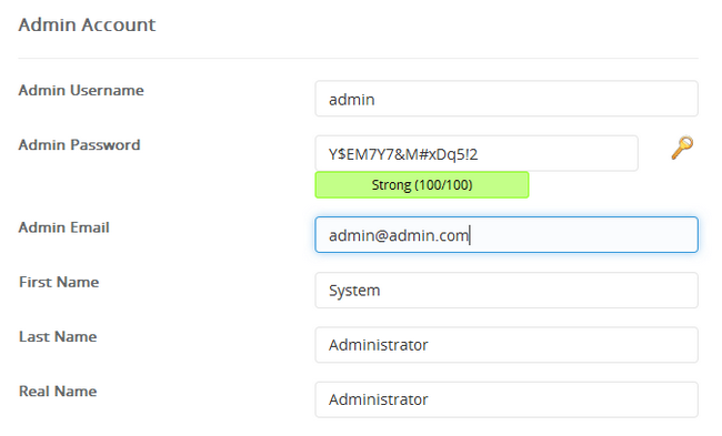 Creating the Administrators Account for Grav