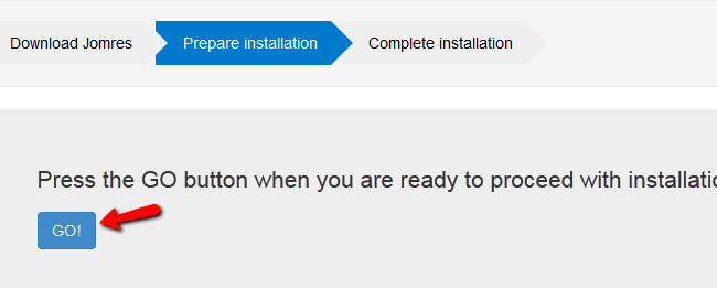 performing the installation procedure