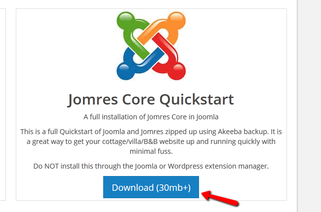 downloading the quickstart