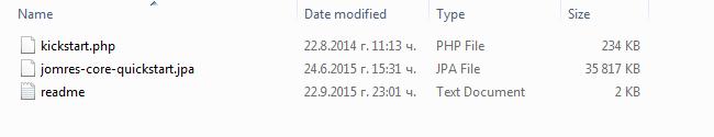 restoring the files