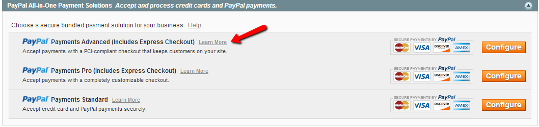 Magento PayPal Settings