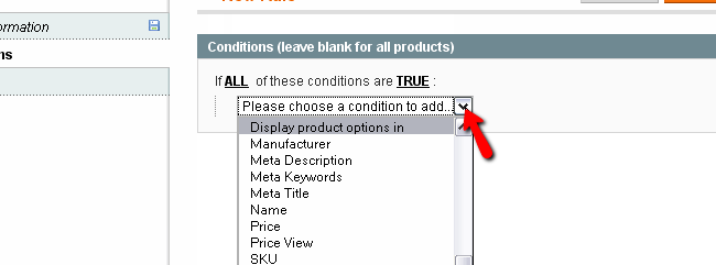 Magento Condition Category Rule