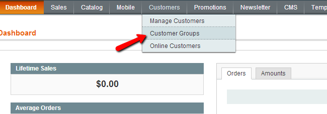Magento Customers Groups