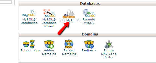 Access cPanel phpMyAdmin