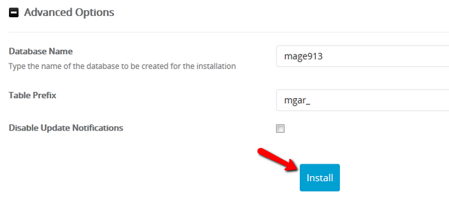 Advanced Options during Magento 2 Installation