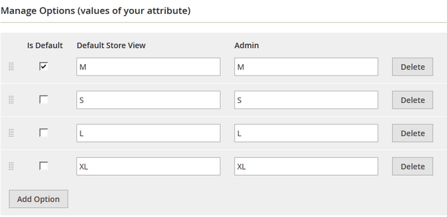 Managing the Option Values of your Attribute