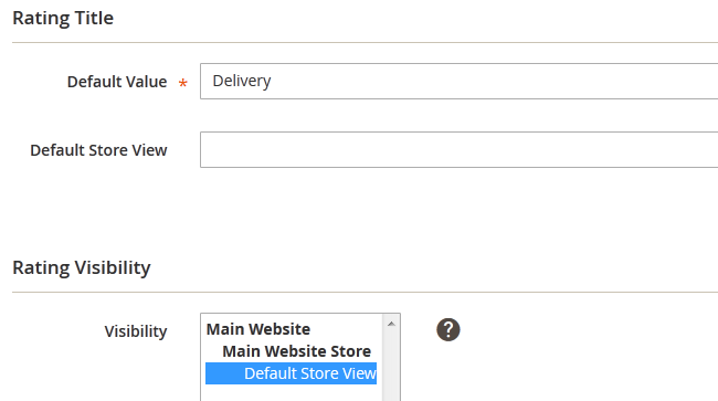 Configuring the Rating Criteria in Magento 2