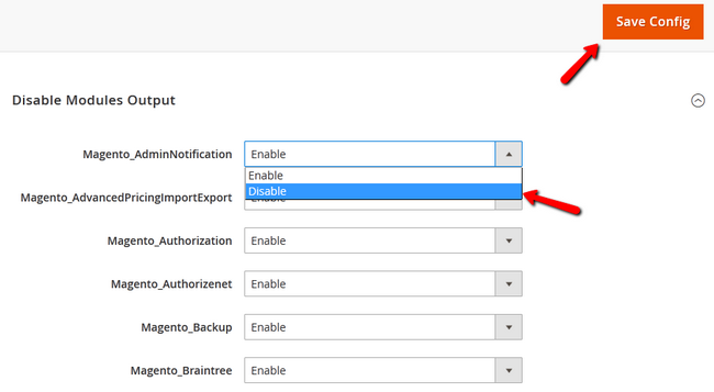 Disabling an Extensions in Magento 2