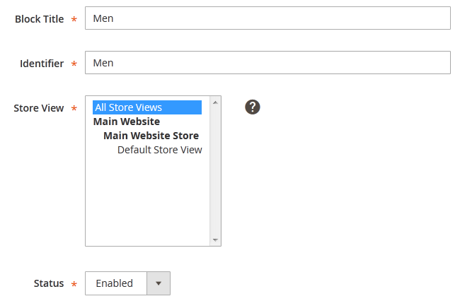 Configuring Block settings in Magento