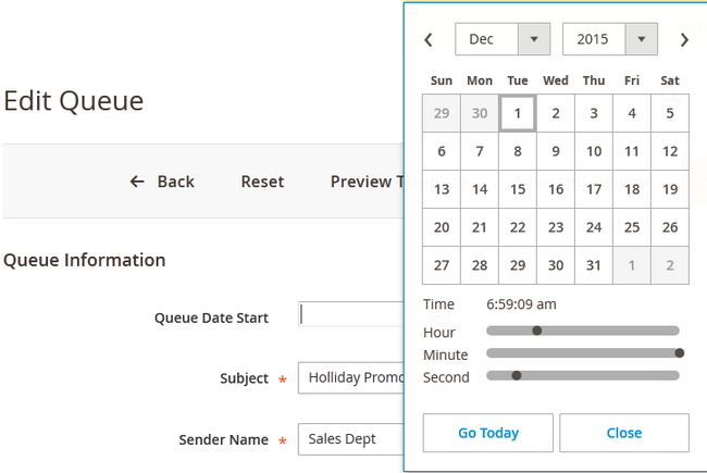 Queue Calendar in Magento 2