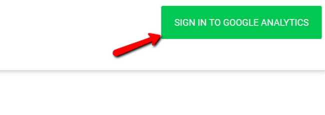 Signing in to Google Analytics