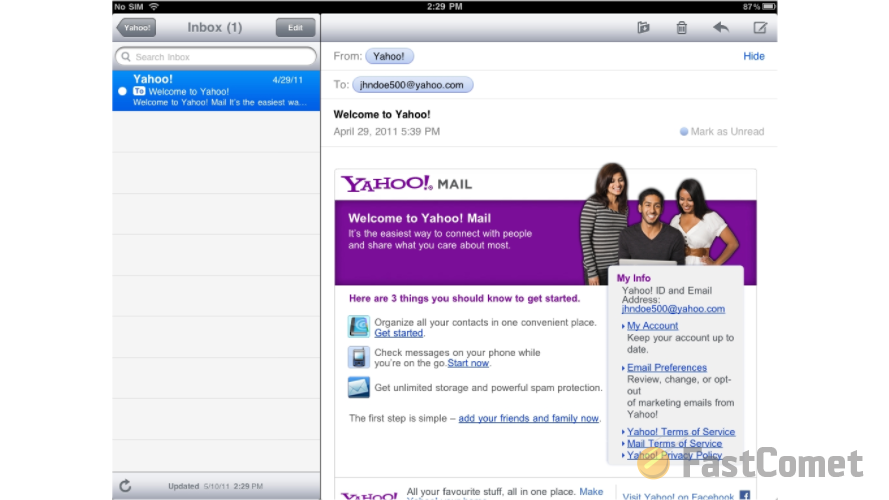 yahoo-sample-email