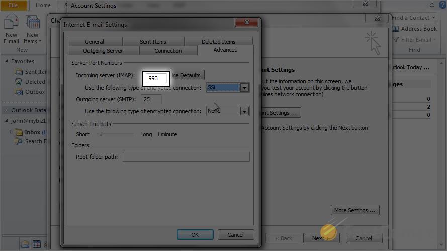 Custom Ports - Outlook Tutorial - FastComet