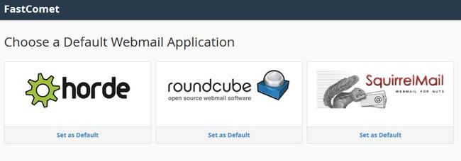 Choosing a webmail application