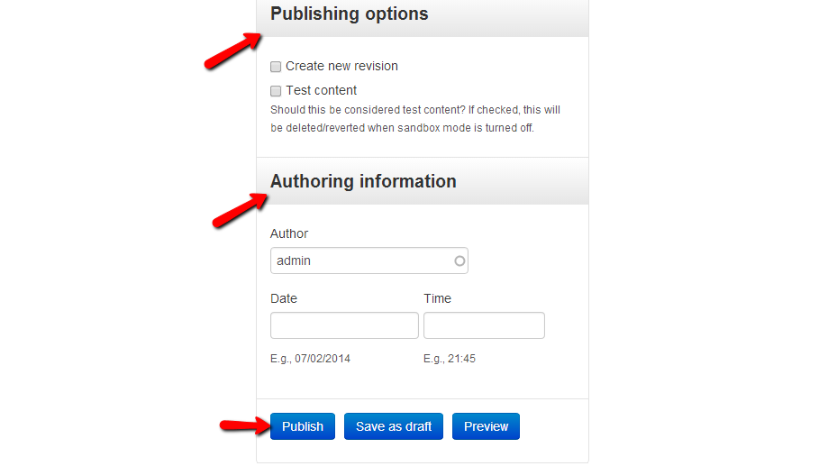 publishing-and-authoring-options