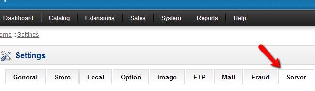 OpenCart Server Settings