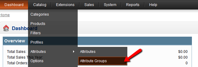 OpenCart Attribute Groups