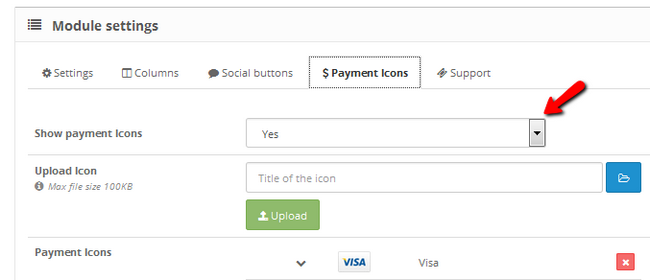 Overviewing the configuration of payment icons for your store