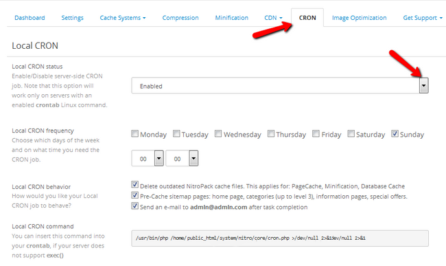 Configuring a CRON job for NitroPack related tasks