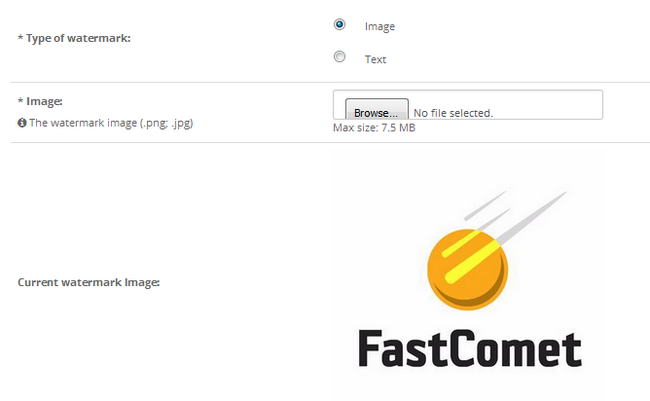 Selecting an image type of watermark for your proucts in OpenCart 2