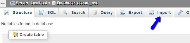 Import Database Dump via phpMyAdmin