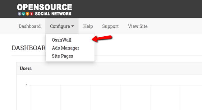 Configuring the OssnWall feature