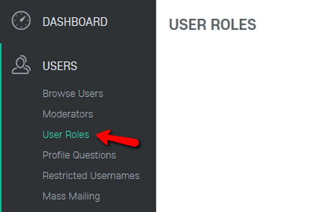 Accessing the User Roles Menu in Oxwall
