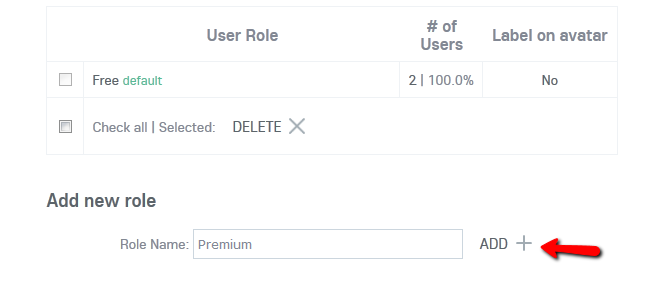 Adding a new User Role in Oxwall