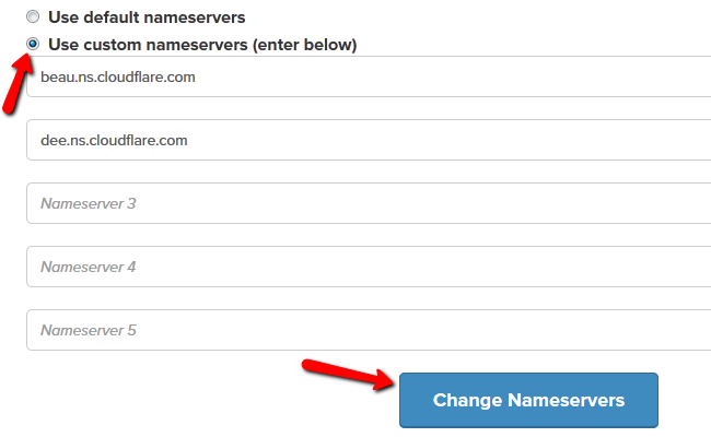 Changing the Nameservers for your Oxwall domain in FastComet