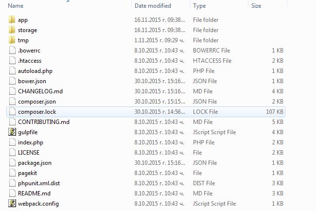 Pagekit Installation Files