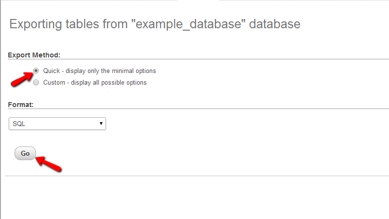 exporting-database