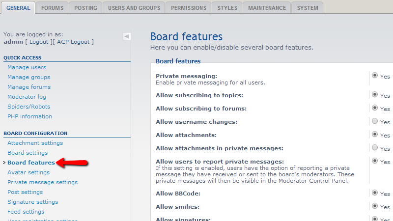 Board-features