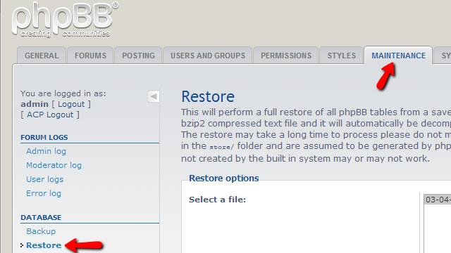 phpbb3-database-restore