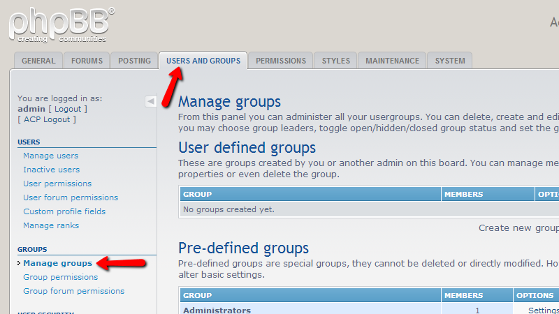 Manage-groups