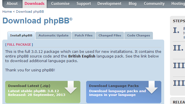 phpBB3-download-page