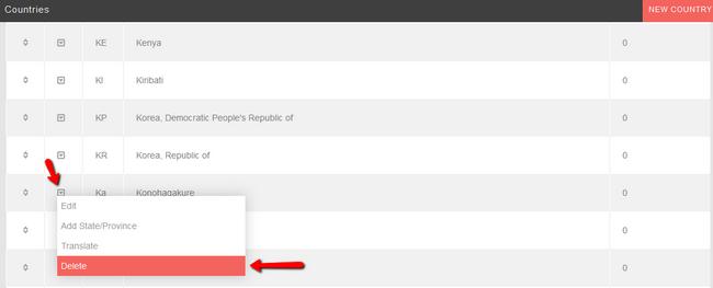 Delete Country in PHPFox Neutron