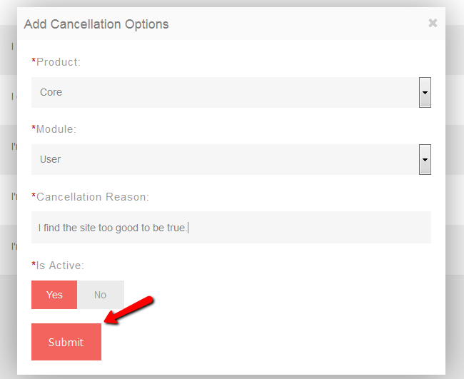 Add Cancellation Option in PHPFox Neutron