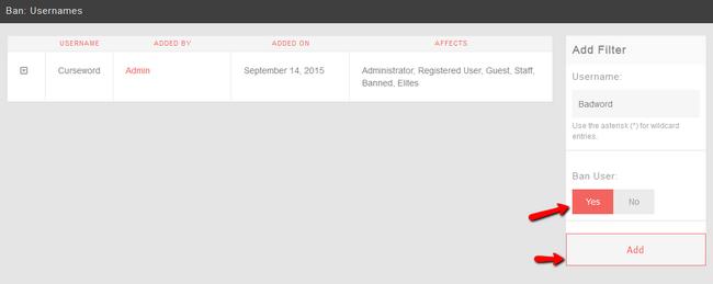Add Ban Filter in PHPFox Neutron