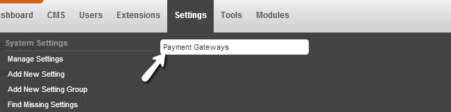 Access payment gatways feature in PHPFox